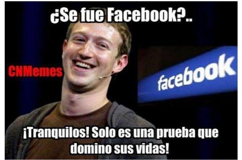 Bromas sobre el dominio de Facebook en la vida de las personas.