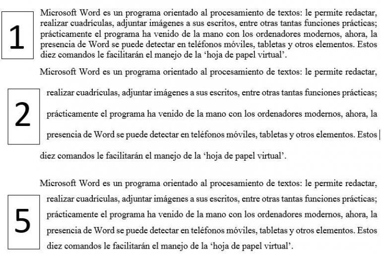 Comandos de Microsoft Word 8