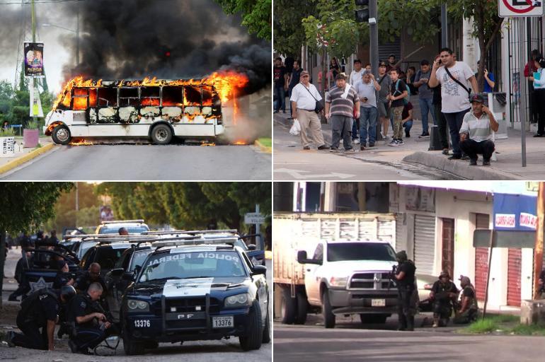 Resultado de imagen para actos violentos de los integrantes del Cártel de Sinaloa registrados el jueves en Culiacán