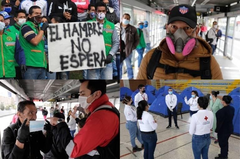 Las fotos de este lunes de cuarentena en Colombia por coronavirus ...
