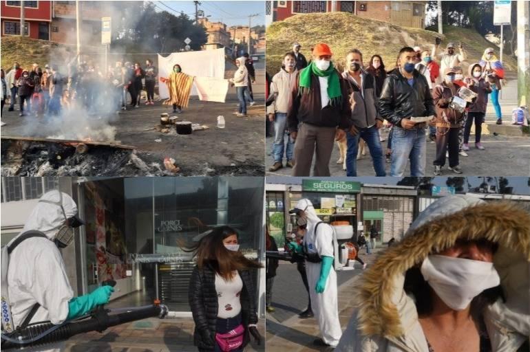 Cuarentena: protestas en Ciudad Bolívar, en Bogotá, hoy jueves 16 ...
