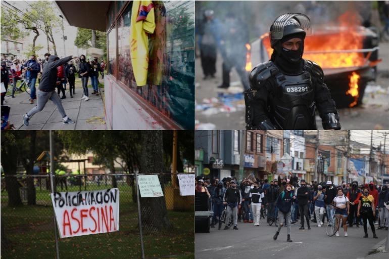 Disturbios en Bogotá por la muerte de Javier Ordoñez luego de brutalidad  policial - Bogotá - ELTIEMPO.COM