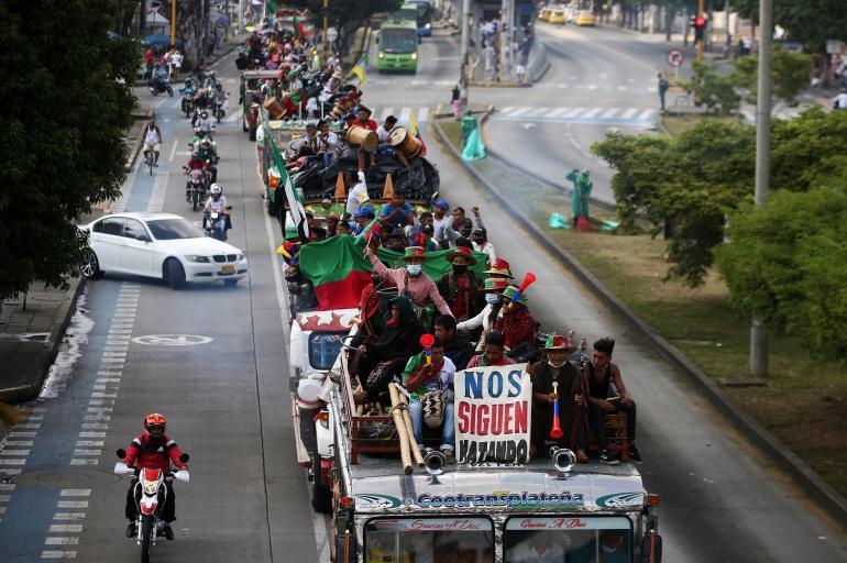 La minga indígena salió de Cali con rumbo a Bogotá - Cali - Colombia -  ELTIEMPO.COM