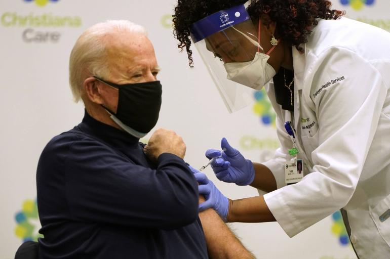 Joe Biden recibe vacuna de Pfizer contra el covid