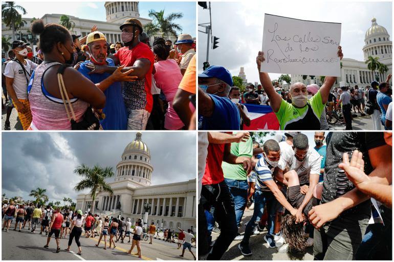 Fotos de las protestas en Cuba este domingo 11 de julio - Latinoamérica - Internacional - ELTIEMPO.COM
