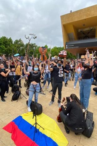 Protestas en Medellín.
