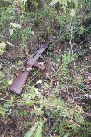 AK-47 utilizado para atentar contra el helicóptero presidencial