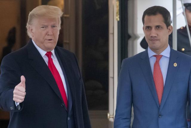 Resultado de imagen de Trump se reúne en la Casa Blanca con el presidente interino de Venezuela Juan Guaidó