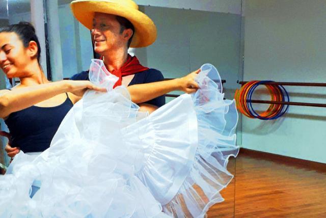 comercial sobre diabetes con padre e hija bailando