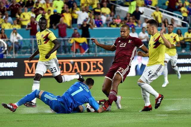 Resultado de imagen para amistoso colombia vs venezuela 2018
