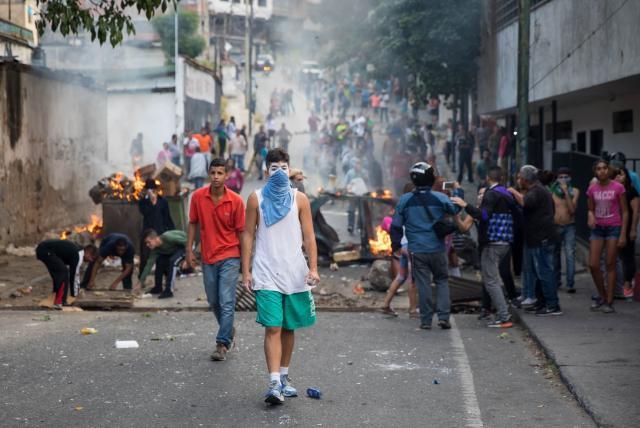 Las protestas en Venezuela son 'el pan de cada día' en ese país agobiado por una profunda crisis económica y por la falta de medicamentos y comida.