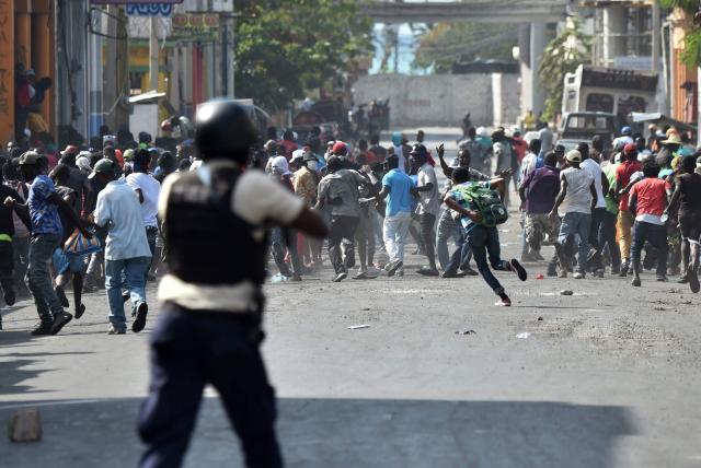 Protestas en Haití.