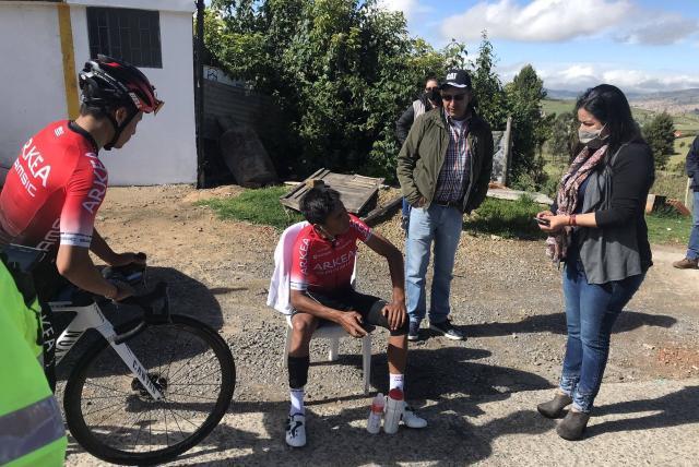 Accidente de tránsito de Nairo Quintana cuando entrenaba en Boyacá ...