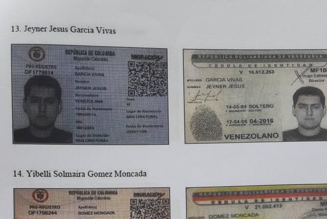 Los nombres de las Tarjetas de Tránsito Migratorio se cruzaron con documetos internos del Sebin y encajaron nombres y números de documentos de identidad.