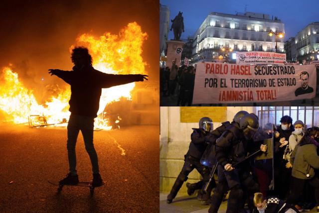 Resultado de imagen de manifestaciones y saqueos en españa por hasel