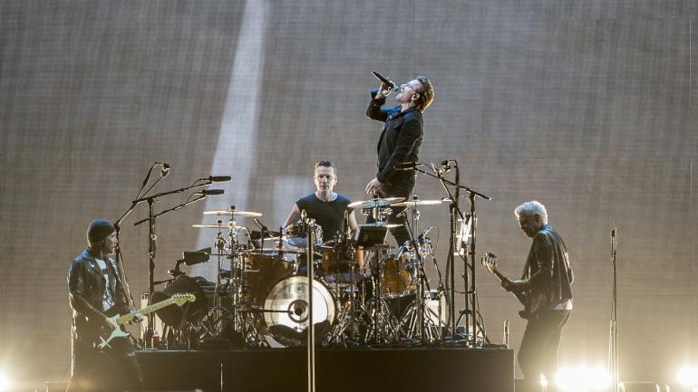 U2 en la gira 'The Joshua Tree Tour 2017'