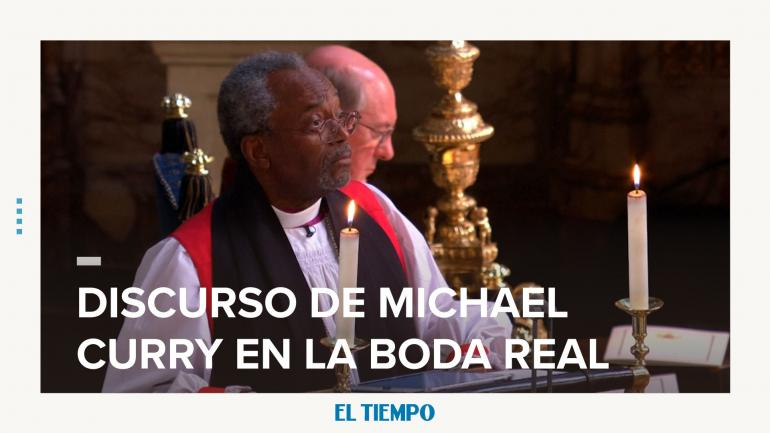 Michael Curry boda real