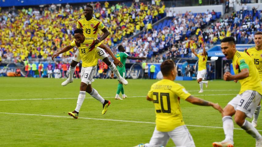 Gol de Yerry Mina frente a Polonia
