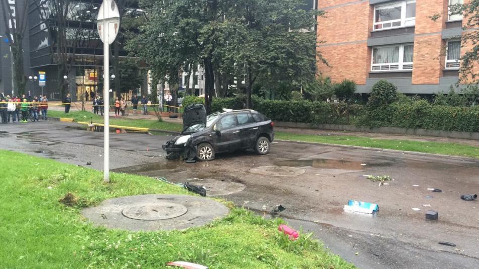 Un muerto y 3 heridos deja accidente en el norte de Bogotá