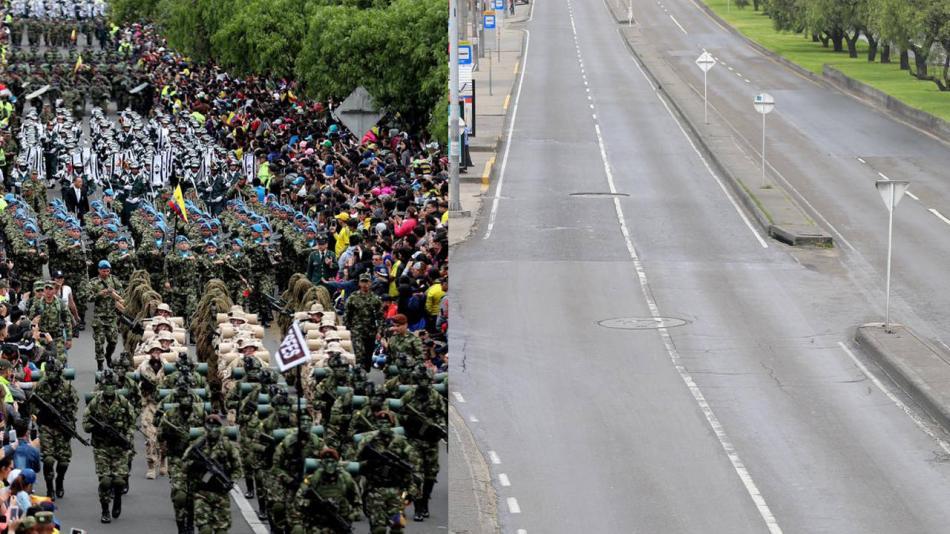 El primer desfile virtual del 20 de julio en la historia de Colombia