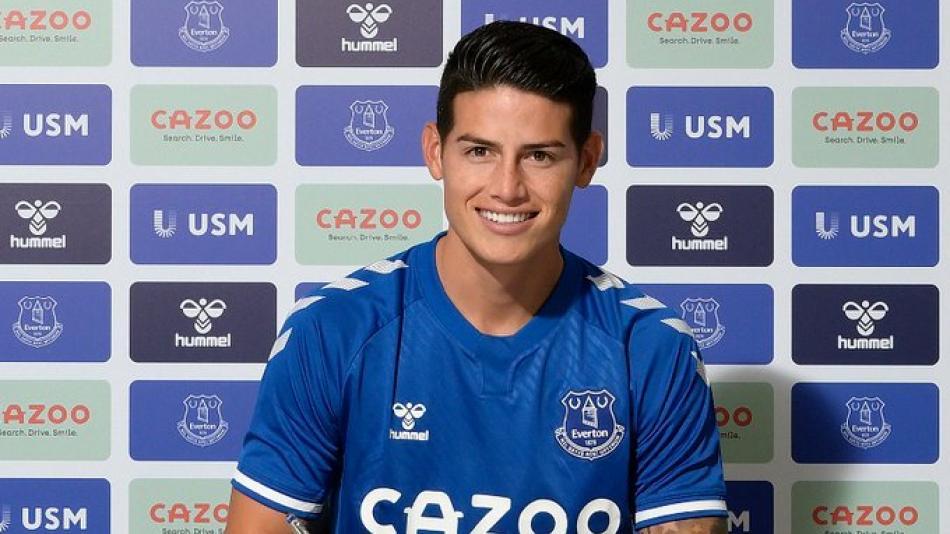 ¡Confirmado, James Rodríguez, nuevo jugador del Everton!