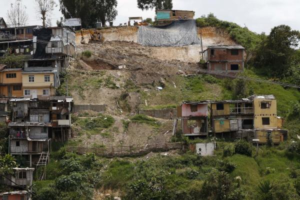 Derrumbe en el barrio Persia de Manizales seis meses después