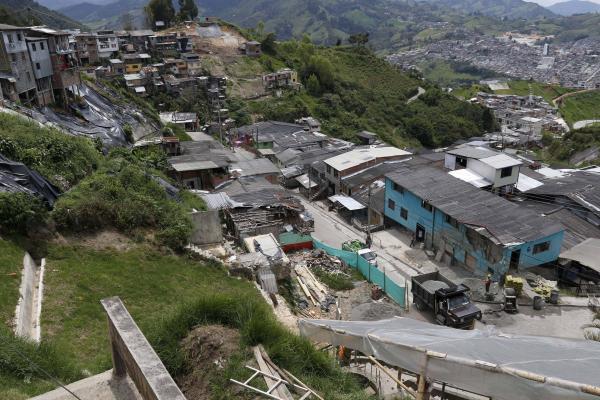 Derrumbe en el barrio González de Manizales seis meses después