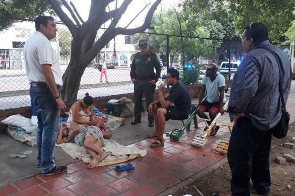 Venezolanos en la calle de Cúcuta