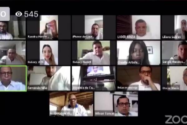 Reunión por Zoom de alcalde y concejo de Cartagena terminó en pleito
