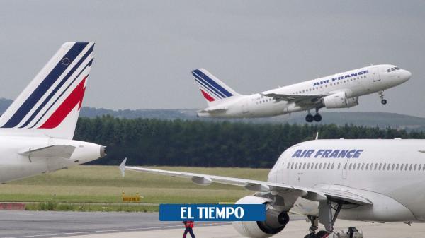 Colombiana con coronavirus llegó en vuelo en Air France