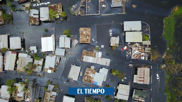 Impactantes fotos satelitales muestran a Puerto Rico tras huracán