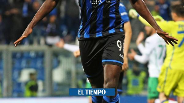 Con goles de Duván Zapata, Atalanta venció al Sassuolo