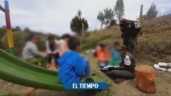 Policía rescató a dos niños que habrían sido abusados en Antioquia - El Tiempo