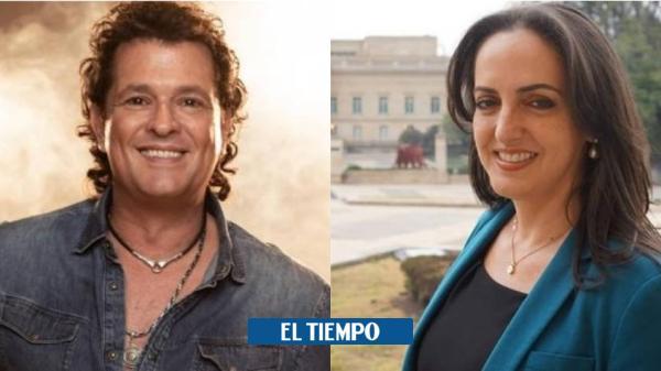 María Fernanda Cabal ataca a Carlos Vives por paro del 21 de noviembre - El Tiempo
