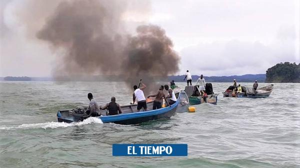 Almuerzo en el mar Pacífico se convirtió en incendio de embarcación - El Tiempo
