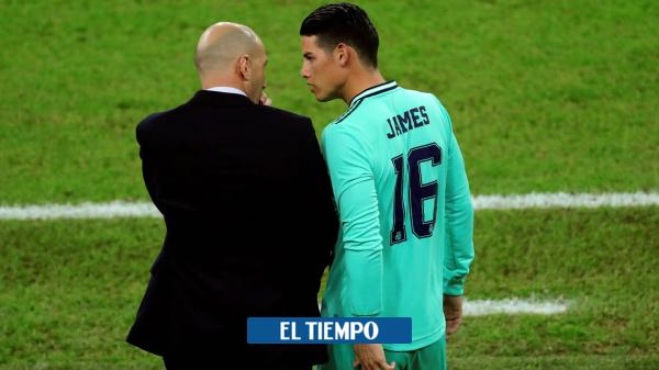 La decisión de Zidane con James para el clásico contra el Barcelona