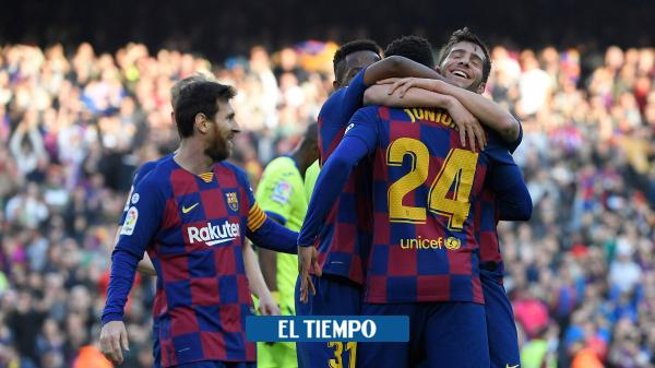 Barcelona ganó y no se despega del Real Madrid