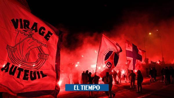¡Impresionante! Así apoyaron hinchas al PSG desde fuera del estadio
