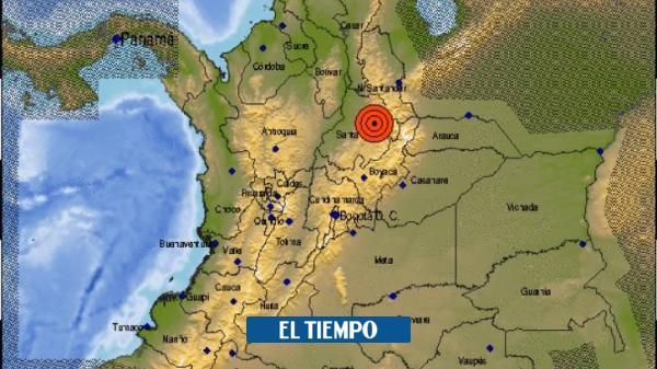 Se reporta fuerte temblor en Colombia de magnitud 5,0