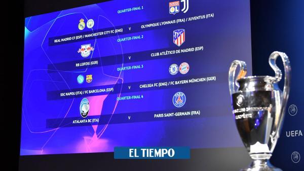 Así se jugarán los cuartos de final en la Liga de Campeones