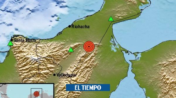 Un sismo de magnitud 5.4 se sintió en la costa Caribe