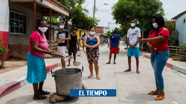El 'sancocho bioseguro' con el que celebran aniversario de un barrio