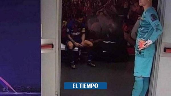 Video de Messi derrumbado en el camerino que le da la vuelta al ...