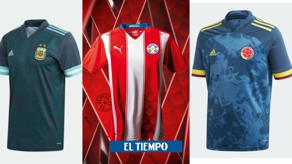 Las camisetas de las selecciones suramericanas para las ...