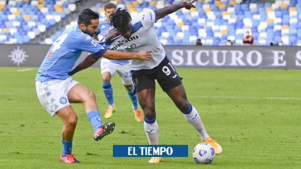 Nápoles de Ospina aplastó a Atalanta de Zapata, Mojica y Muriel: 4-1