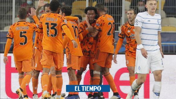 Con asistencia de Cuadrado, Juventus venció 0-2 a Dinamo de Kiev