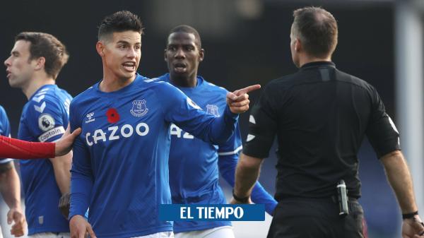 Con James también pierden: Manchester United venció 1-3 al Everton