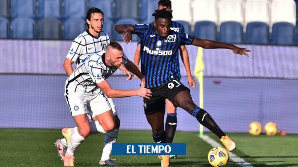 Atalanta empató con Inter: Duván, Muriel y Mojica, sin lesiones