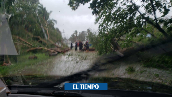 Así amaneció San Andrés tras el paso del huracán Iota