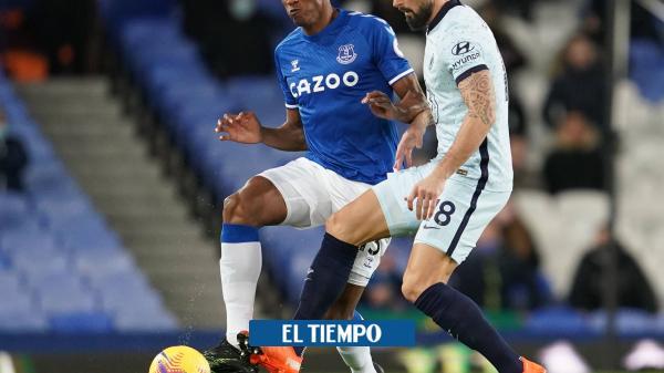 Everton perdió el invicto, con Mina, pero sin James